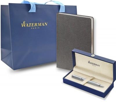WTPRGRCTS0831320 Waterman Perspective. Подарочный набор:Шариковая ручка Waterman Perspective Silver CT и Ежедневник Brand недатированный черный