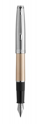 2103036 Перьевая ручка Waterman  Embleme цвет GOLD CT, цвет чернил: черный