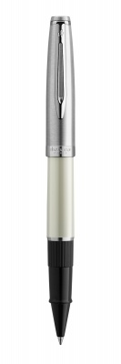 2100329 Ручка роллер Waterman  Embleme цвет IVORY CT, цвет чернил: черный