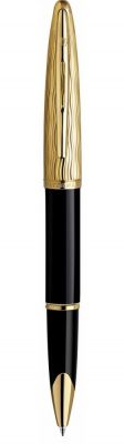 S0909790 Ручка-роллер Waterman Carene Essential, цвет: Black GT, стержень: Fblack