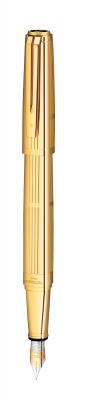 WT6F-GLD1G Waterman Exception. Перьевая ручка Waterman Exception Solid Gold, цвет: Gold (золото),  перо: M, перо: золото 18К