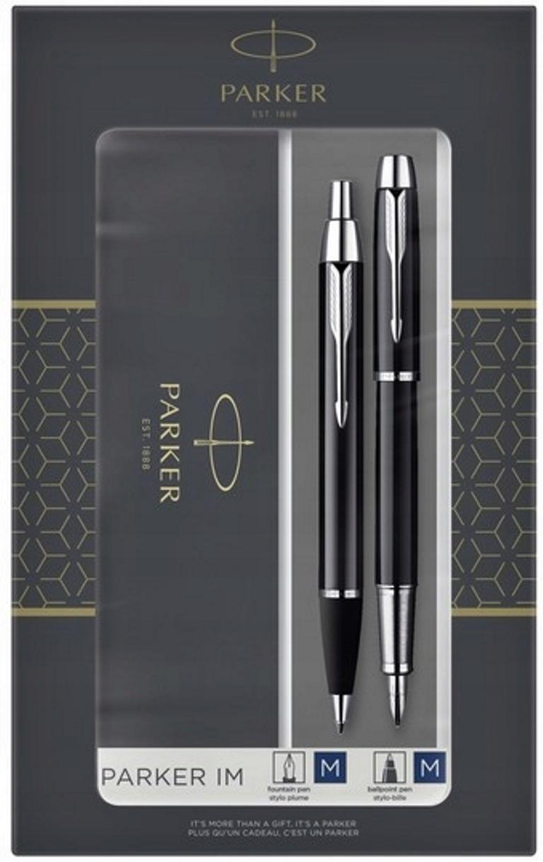 2093215 Набор из 2х ручек в подарочной коробке  «Паркер Ай Эм Блэк Cb Ти».  Шариковая ручка и перьевая ручка.